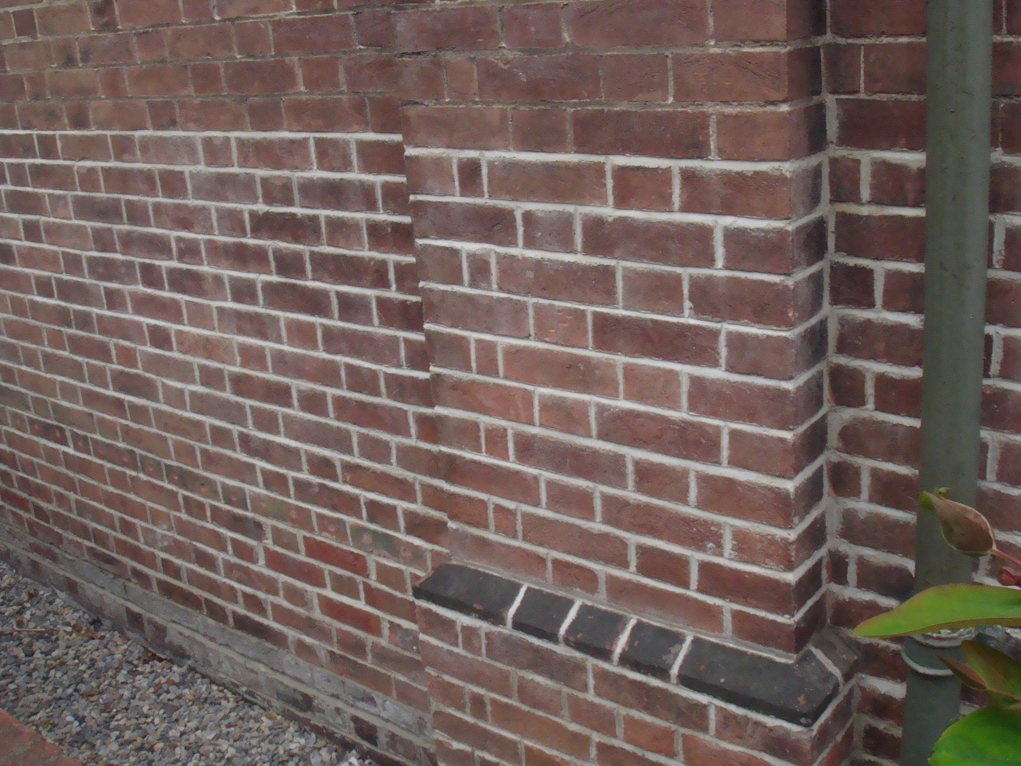 Picture Shows Damaged Brickwork Has Been Removed, New Matching Bricks Laid  In Hydrolic Lime Mortar ...